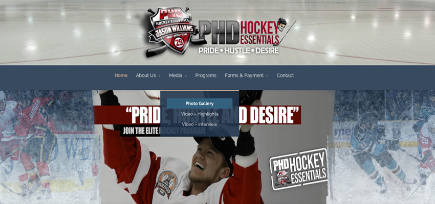 PHD Hockey Website