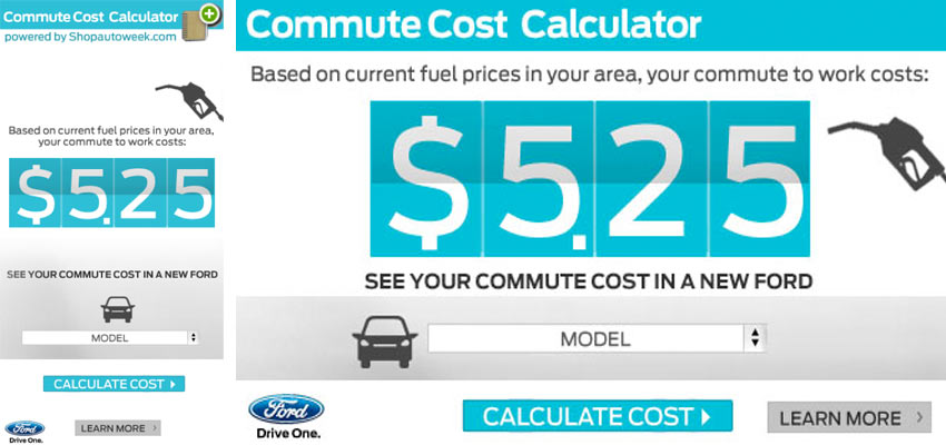 Commute Cost Calc 2 Haris Cizmic - Creative Services from Detroit to Sarajevo