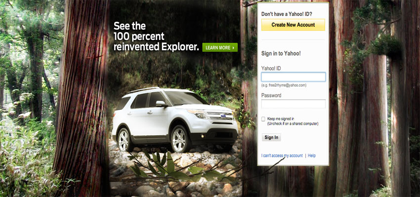 Explorer Yahoo Reveal