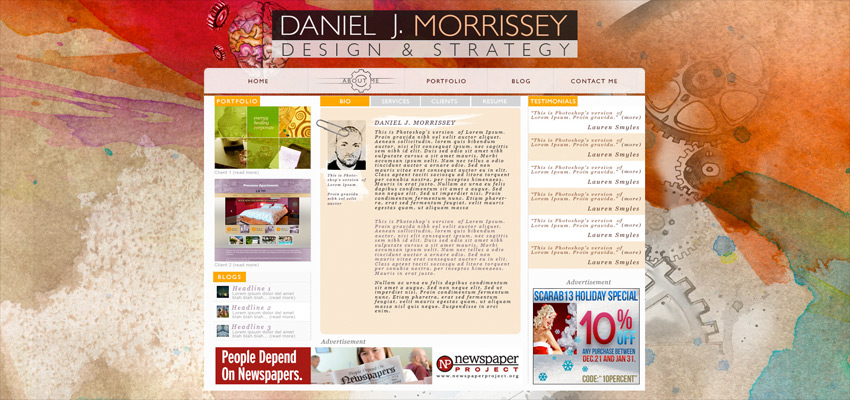 Morrissey Website Haris Cizmic - Creative Services from Detroit to Sarajevo