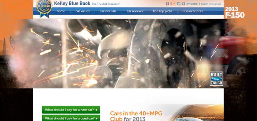 F-150 Homepage Takeover