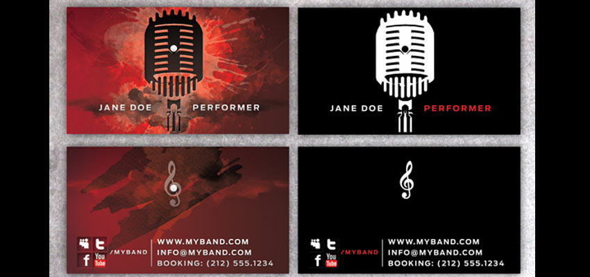 Music BusinessCard Haris Cizmic - Creative Services from Detroit to Sarajevo