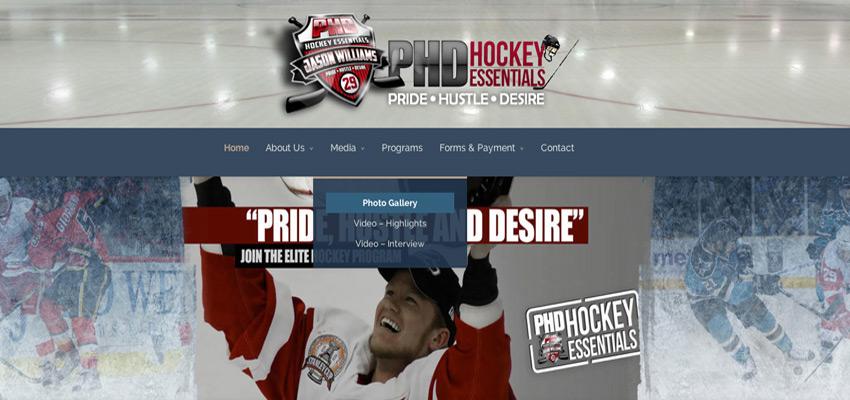 PHD Hockey Website