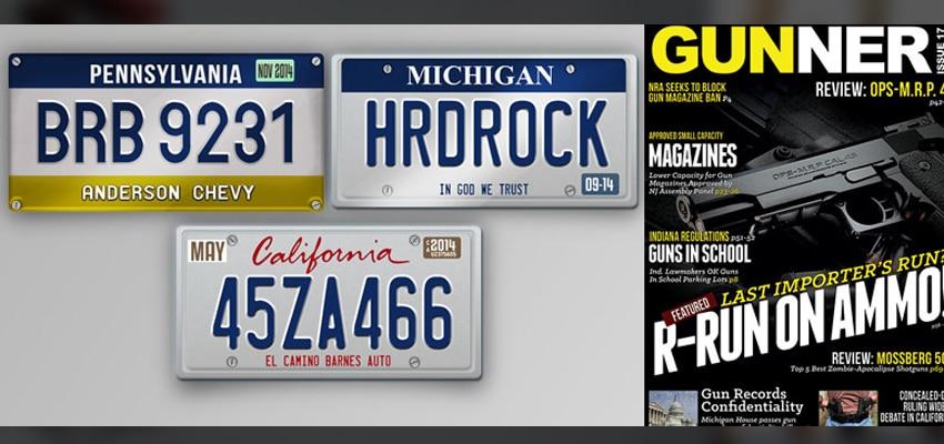 License Plates, Magazines