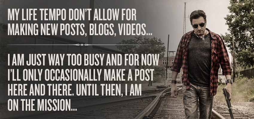 No more time for blogging…